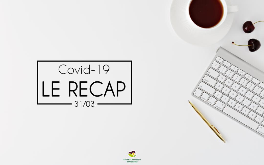 Récap COVID-19 du 31/03