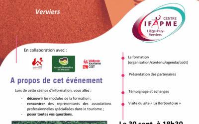 Formation gites et chambres d'hôtes IFAPME 2021
